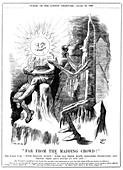 Eclipse expedition cartoon,1896