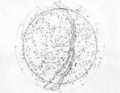 Northern hemisphere sky map,1603