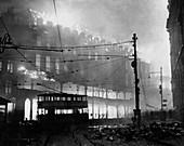 WWII air raid damage,Sheffield,1941
