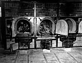 WWII Nazi death camp crematorium,1945