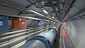 LHC tunnel at CERN