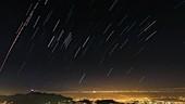 Star trails over Rio de Janeiro