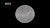 Dwarf planet Ceres rotating, 3D view
