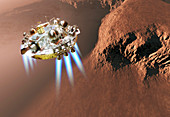 Schiaparelli EDM lander at Mars,artwork