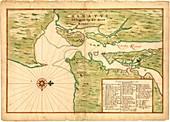 Map of New York Bay,1670