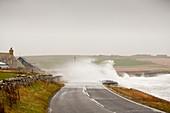 Storm waves on,Orkney,UK