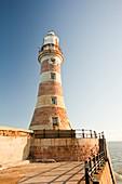 Roker Pier lighthouse,Sunderland,UK