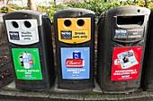 Recycling bins,Newcastle,UK