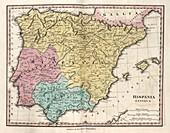 Map of Ancient Hispania,19th century
