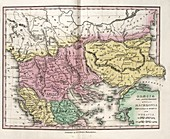 Map of Ancient North Greece,19th century