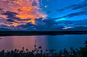 Afterglow over a lake