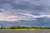 Monsoon clouds over landscape