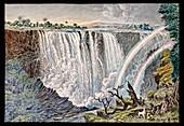 Victoria Falls rainbows,19th century