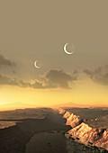 Artwork of Exoplanet Kepler 452b