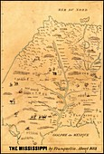 Map of the Mississippi River,1682