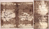 French and Indian War map,1755