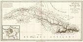 Map of Cuba,1820
