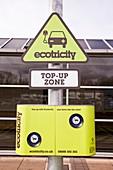 Electric car recharging station