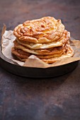 A stack of cloud bread (carb-free bread)