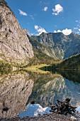 Obersee im Nationalpark Berchtesgaden, Bayern, Deutschland