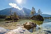 Der traumhaft schöne Hintersee, Bayern, Deutschland