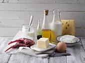 Proteinhaltige tierische Lebensmittel und gesunde Öle