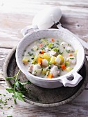 Vegetable stew with fish and potatoes
