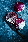 Radicchio, whole and halved