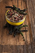 Different kinds of peppercorns