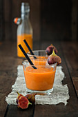Fig and sea buckthorn smoothie