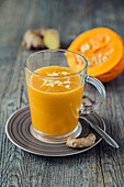 Warm pumpkin drink