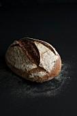 Freshly Baked Loaf of Sourdough Bread