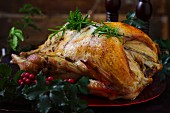 Roast turkey with rosemary