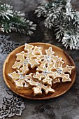 Christmas shortbread with white sugar decorations