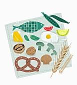 Various types of food (illustration)