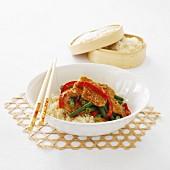 Satay Pork Stir-Fry