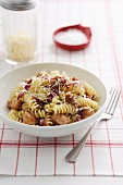 Fusilli with Sausage, Radicchio and Mascarpone