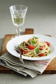 Spaghetti with Ocean Trout and Tomatoes