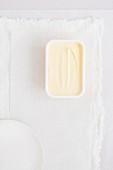 A plastic tub of margarine