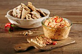 Spicy pepper dip with Thai chillis
