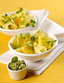 Pineapple salad with mint