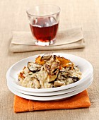 Grilled mushroom risotto
