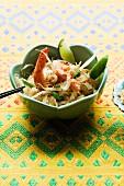Pad Thai Sai Gung (rice noodles with prawns and tofu, Thailand)