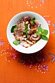 Yam Muh Yang (spicy meat salad with mint, Thailand)