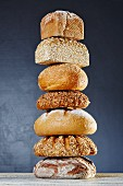 A stack of bread