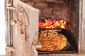 Artisan bread in wood-fired oven