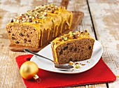 Cinnamon cake with nuts for Christmas