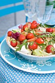 Couscous salad with strawberries and smoked salmon