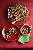 Wild rice bake with cranberries