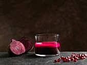 Beetroot juice with apple and pomegranate